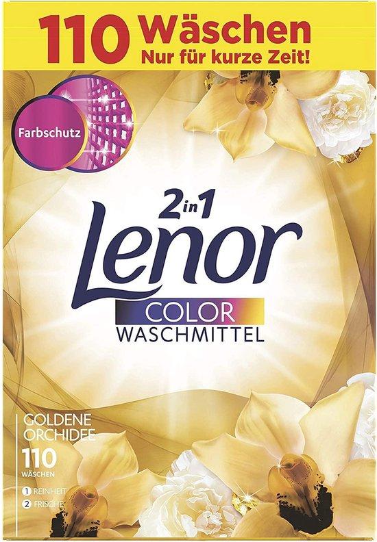 Lenor - 2in1 Waspoeder - Kleur - Gouden Orchidee - 7,5KG / 110 wasbeurten