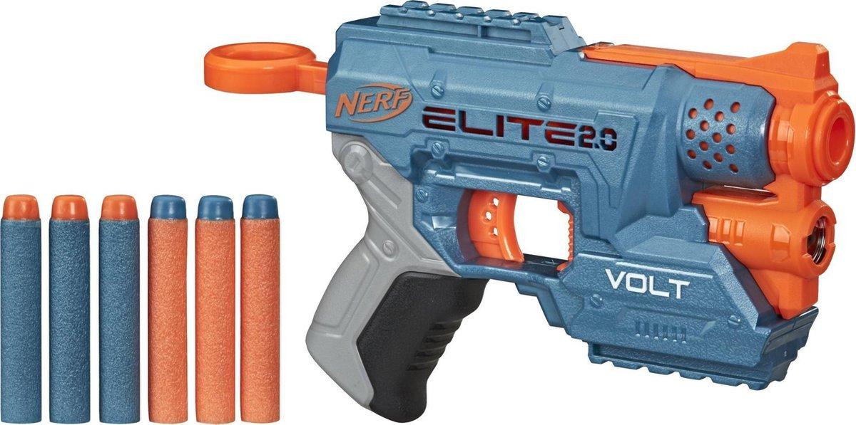 NERF blaster Elite 2.0 Volt junior blauw/oranje 7 delig