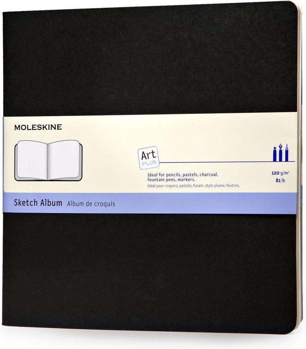 Moleskine Art Schetsboek Vierkant (19x19) - Soft cover - Blanco - Zwart