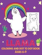 Llama Coloring and Dot to Dot Book Ages 6-9