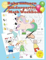 baby unicorn kindergarten math workbook