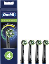 Oral-B CrossAction - Opzetborstels - Met CleanMaximiser-technologie - Zwart - 4 Stuks