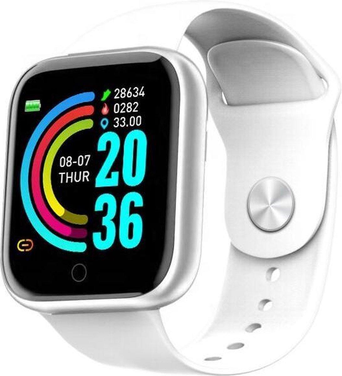 Belesy® Base - Smartwatch - Horloge - 1,3 inch Kleurenscherm - Stappenteller - Bloeddrukmeter - Verbrande calorieën - 3x sportmodus - Siliconen - Roze kopen