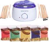 Wax Ontharen - MOCHITO - Met 500 Gram Wax & 20 Spatels - Cadeau Voor Vrouw
