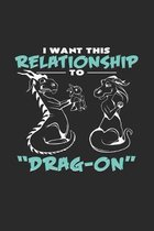 Relationship Drag-On: 6x9 Dragons - grid - squared paper - notebook - notes