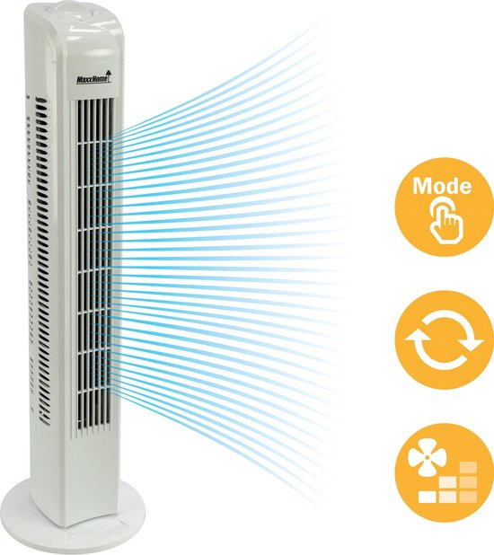 MaxxHome - Torenventilator - zwenkend 45 Watt