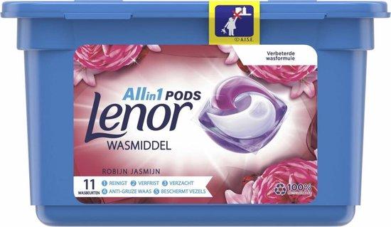 Lenor All In 1 Pods Robijn Jasmijn Wasmiddel - Voordeelverpakking 66 Wasbeurten - Wasmiddel Pods