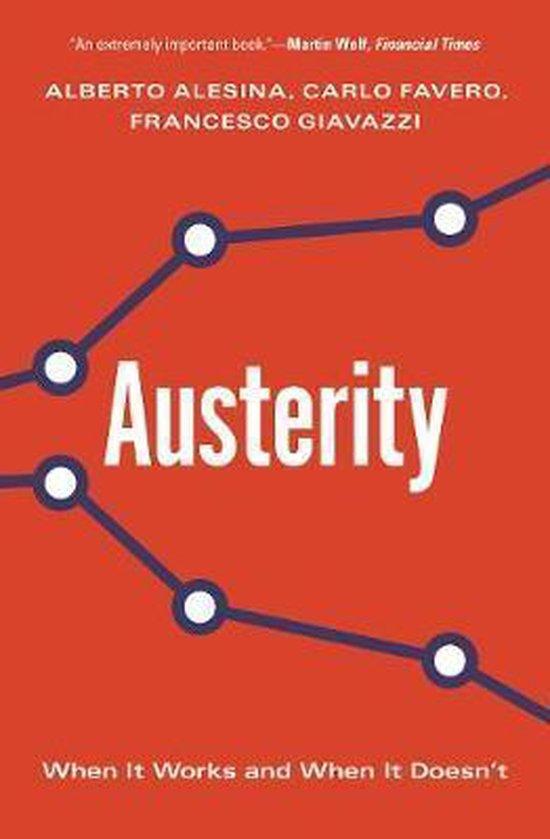 Boek cover Austerity van Alberto Alesina (Paperback)