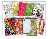 CitrusPers Cover Setje nr.2 - Bloemen & Vlinders -  voor LOS bij te bestellen Schoolagenda A5