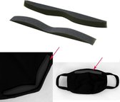 Neuspad 3D - 20 stuks - ZONDER mondmaskers - vermindering condens - voor brildragers - zwart