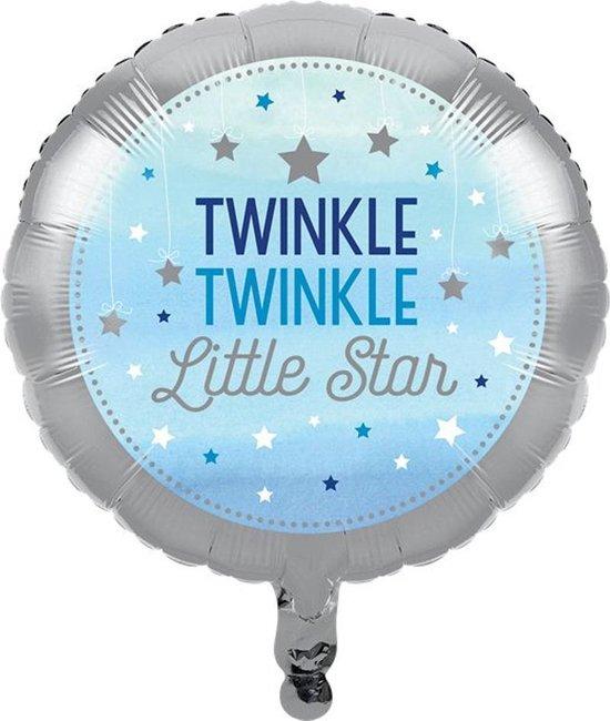 Folieballon 'Twinkle, Twinkle Little Star' Blauw - 46 centimeter