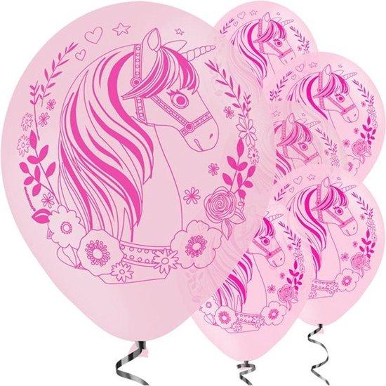 Ballonnen Unicorn Roze - 6 stuks
