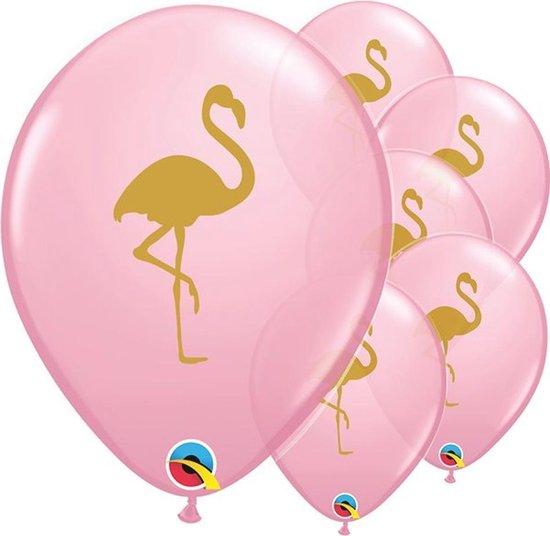 Ballonnen Flamingo Roze Goud - 5 stuks