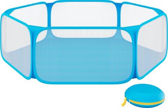 SIMU Lifestyle Opvouwbare Knaagdieren Ren - Kooi - Blauw - 120 cm