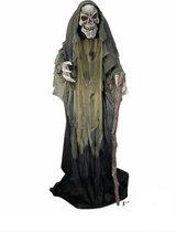 Halloween pop EVIL SPIRIT (geluid, beweging, licht) 1.60 m hoog ( nu met led stroboscoop)
