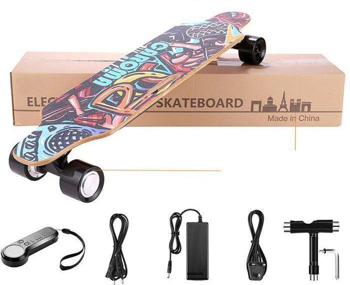 LORIOTH® Elektrisch Skateboard - Motor Skateboard met Afstandsbediening - Elektrisch Longboard - Buitenspeelgoed - Elektrisch Skaten - Verschillende kleuren