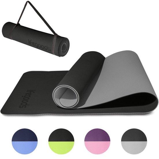 LifeGoods Yoga Mat - Draagriem - Anti Slip - Extra Dik (6 mm) - 61 x 183 x...
