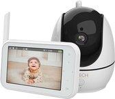 Babyfoon met Camera - Nachtzicht - Tweewegsaudio - Premium Baby Monitor - Wit | Zwart