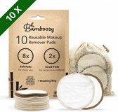 Wasbare Wattenschijfjes 10 Bamboe Wattenschijfjes - Herbruikbare Wattenschijfjes - Make up Pads Zoogcompressen Zero Waste