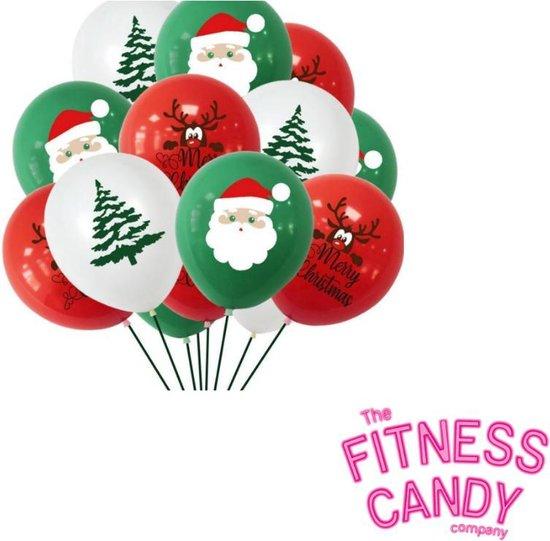 Kerstmis ballonnen - Set van 6 [Kerstman / Kerstboom]