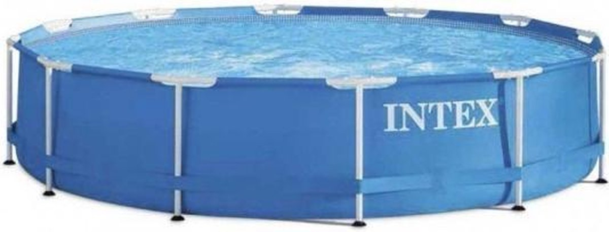 opzetzwembad zonder pomp 28210NP 366 x 76 cm blauw