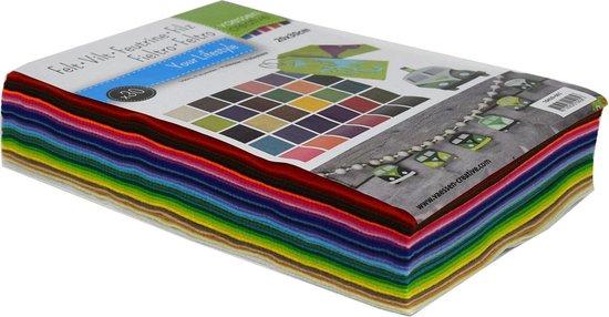Afbeelding van Vaessen Creative Vilt - Lapjes Multipack - 20x30cm - 1mm dik - 30 vellen speelgoed