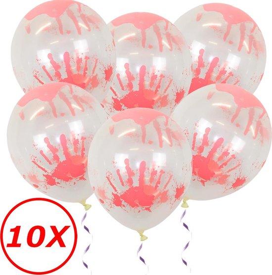 Halloween Helium Ballonnen Decoratie Versiering Feest Versiering Halloween Accessoires Bloed afdruk – 10 Stuks