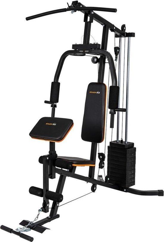 Everfit MSK-500 krachtstation - Home Gym - Fitness station - Zwart
