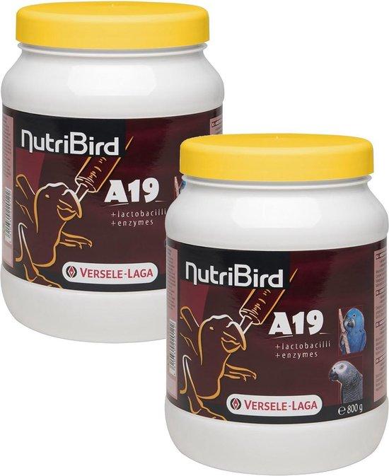 Nutri Bird Papegaai A19 - 2 St à 800 gr - Papegaaienvoer - Nutribird