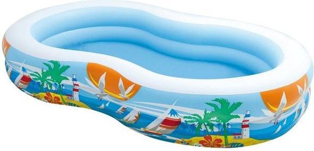 opblaaszwembad 56490NP Paradise 262 x 160 x 46 cm blauw