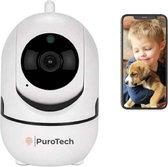Beveiligingscamera - IP Huisdiercamera - 2-Weg Audio - Beweeg en Geluidsdetectie - Nachtvisie - Draadloos - Hondencamera - Opslag in Cloud of App - Wit