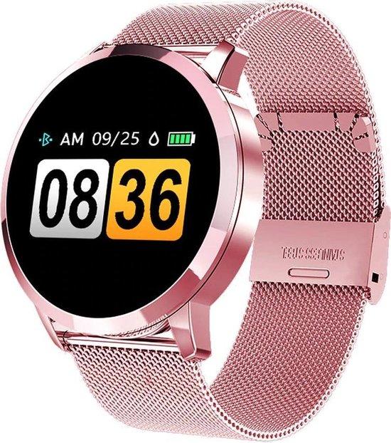 SmartWatch-Trends Q8 - Smartwatch - 24 mm - Roze/Metaal