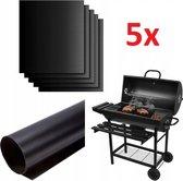 Antikleef Teflon Bakmat Set - BBQ Mat - Non-Stick Grill Mat - Voor Oven & Barbecue - Ovenbeschermer - Ovenbestendig - Set Van 5 Stuks