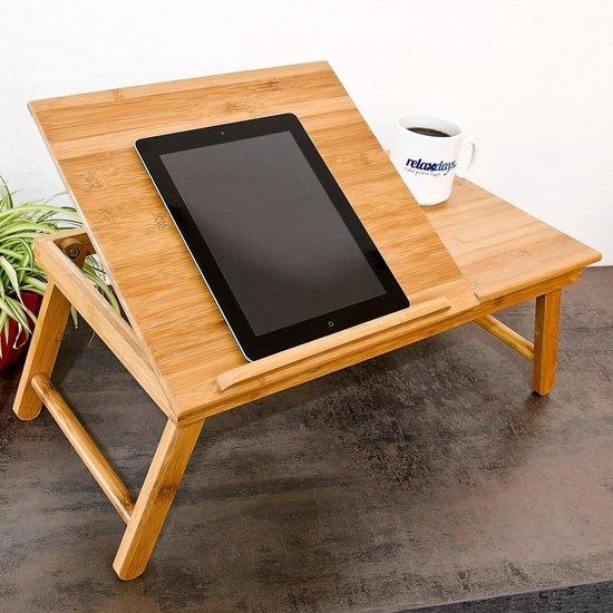 Wonderbaarlijk bol.com   relaxdays laptoptafel voor op schoot + la - Tafel laptop FV-65