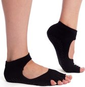 Yogasokken & Pilatessokken - Antislip sokken * 'Ballerina' - zwart - meerdere kleuren verkrijgbaar - Pilateswinkel * Yoga sokken * Pilates sokken