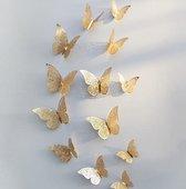 Gouden 3D-vlinders