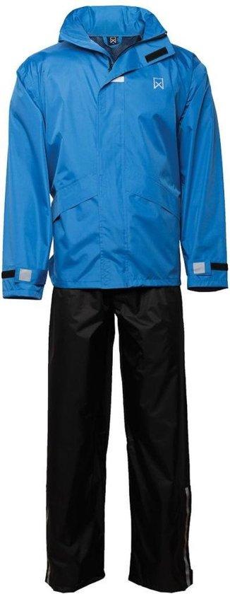 Regenpak Blauw/Zwart M - Willex