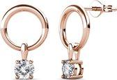 Yolora Oorbellen met Swarovski Kristal - Rosé Goud kleurig - voor dames - YO-163