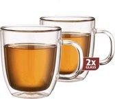Maxxo Grote Theeglazen Dubbelwandig - set van 2 - 480 ml