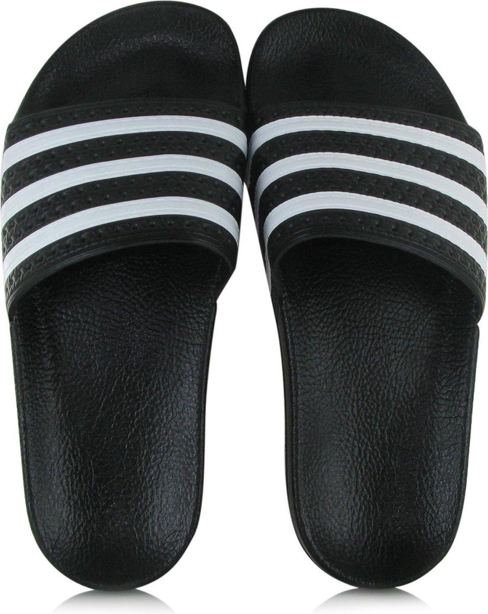 adidas Adilette Heren Slippers - Core Black/White/Core Black - Maat 43