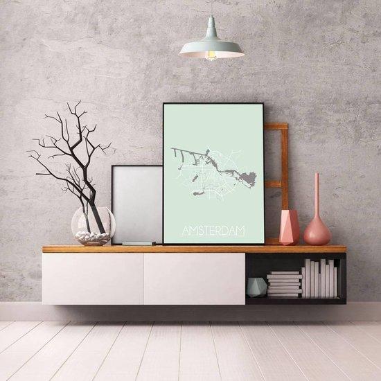 Bol Com Plattegrond Amsterdam Stadskaart Poster Designclaud Pastel Groen A4 Poster