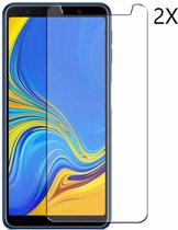 2 Pack Samsung Galaxy A7 (2018) Tempered glass /Beschermglas Screenprotector