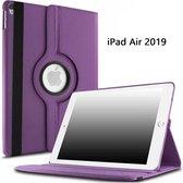 Ntech Apple iPad Air (2019) 10.5 Draaibare Hoes - Paars