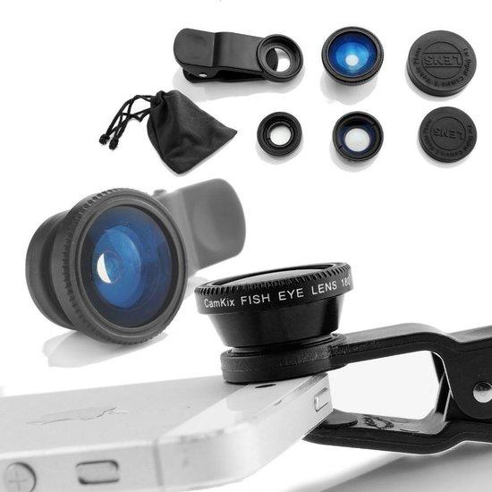 3-in-1 Smartphone / Telefoon Lens Kit - Fish Eye / Macro / Wide Angle Lenzen