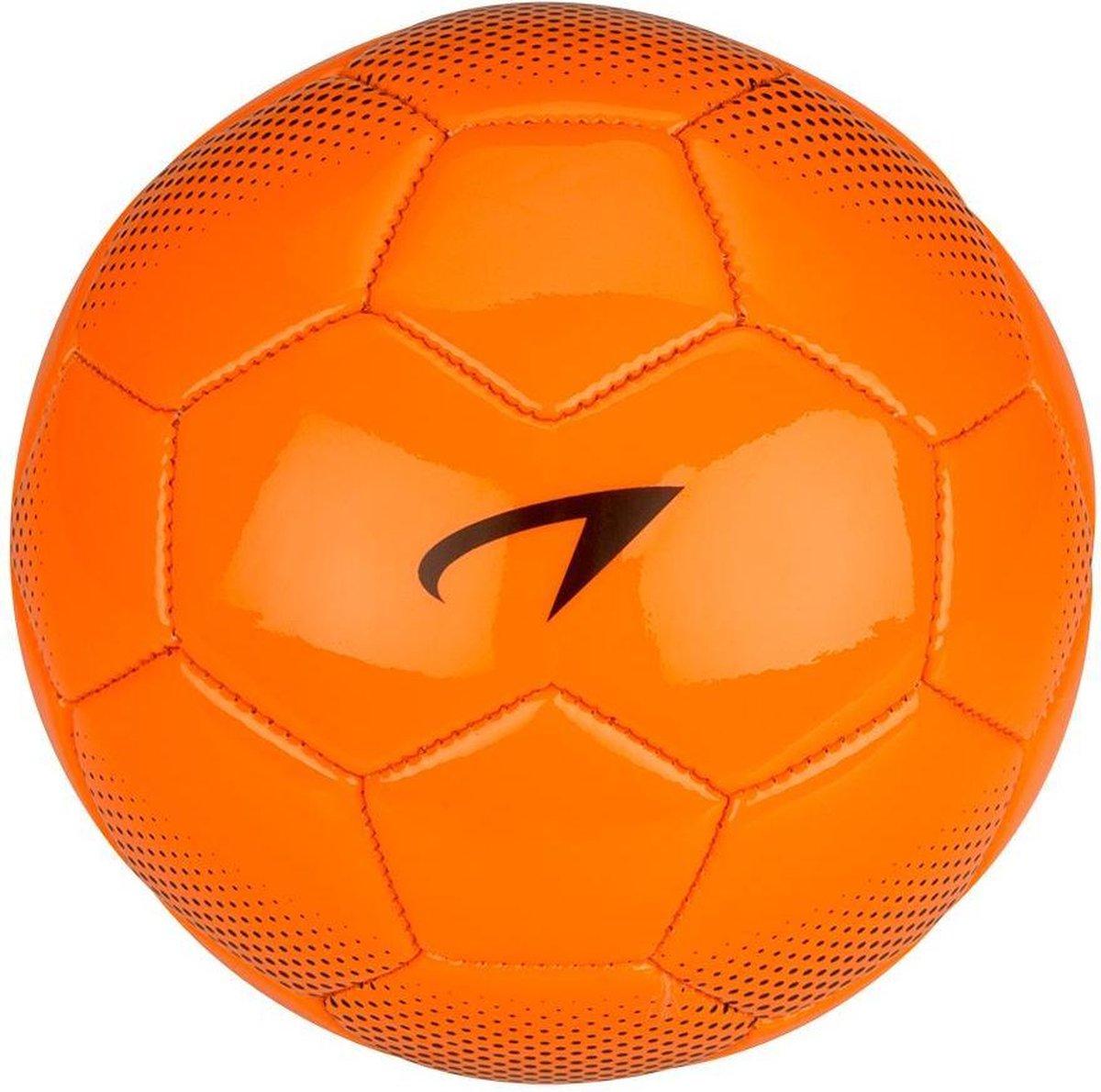 Avento Mini Voetbal Glossy 2 - Fluororanje/Zwart - 2 - Avento