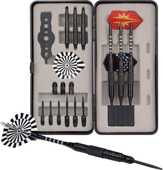 Abbey Darts Dart Set - Steel Tip/Soft Tip - Zwart - 21