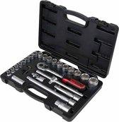 KS Tools CLASSIC Ratelsleutel en doppen set 1/2'' 28-delig 917.0728
