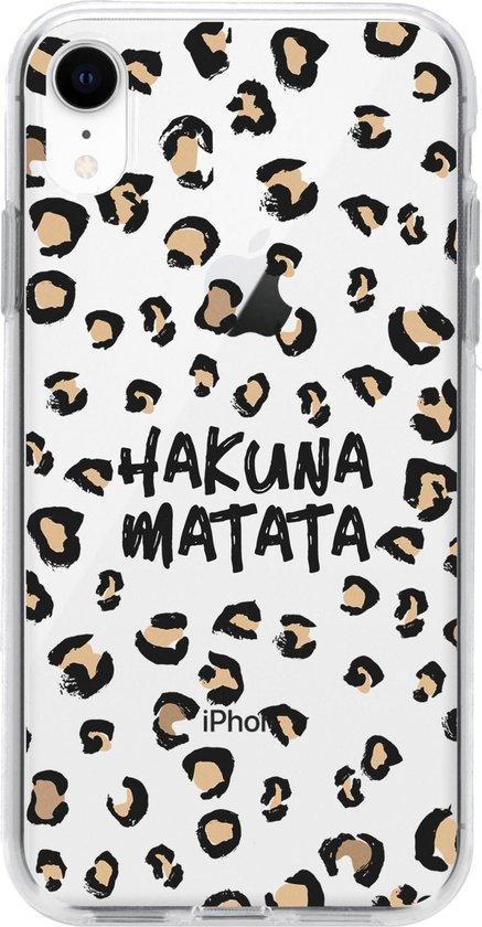 Design Backcover iPhone Xr hoesje - Hakuna Matata