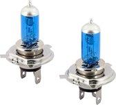 AutoStyle SuperWhite Blauw H4 60-55W/12V/4800K Halogeen Lampen, set à 2 stuks (E13)