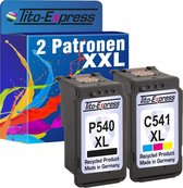 Tito-Express PlatinumSerie Voordeelset 1x Canon PG-540 XL Zwart & 1x CL-541 XL Kleur inktcartridges alternatief voor Canon PG-540 XL & CL-541